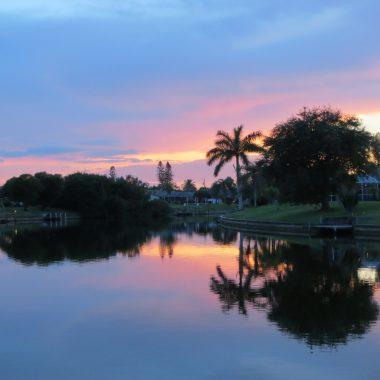 Diesen Ausblick geniessen Sie am Bootssteg des Ferienhaus Coral Belle in Cape Coral