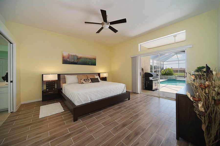 Master Bedroom at Vacation Home Villa Coral Belle
