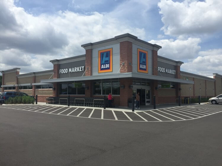Frontansicht des Aldi in Lehigh Acres in Florida