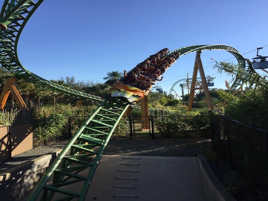 Busch Gardens Cheetah Hunt Achterbahn Villa Coral Belle