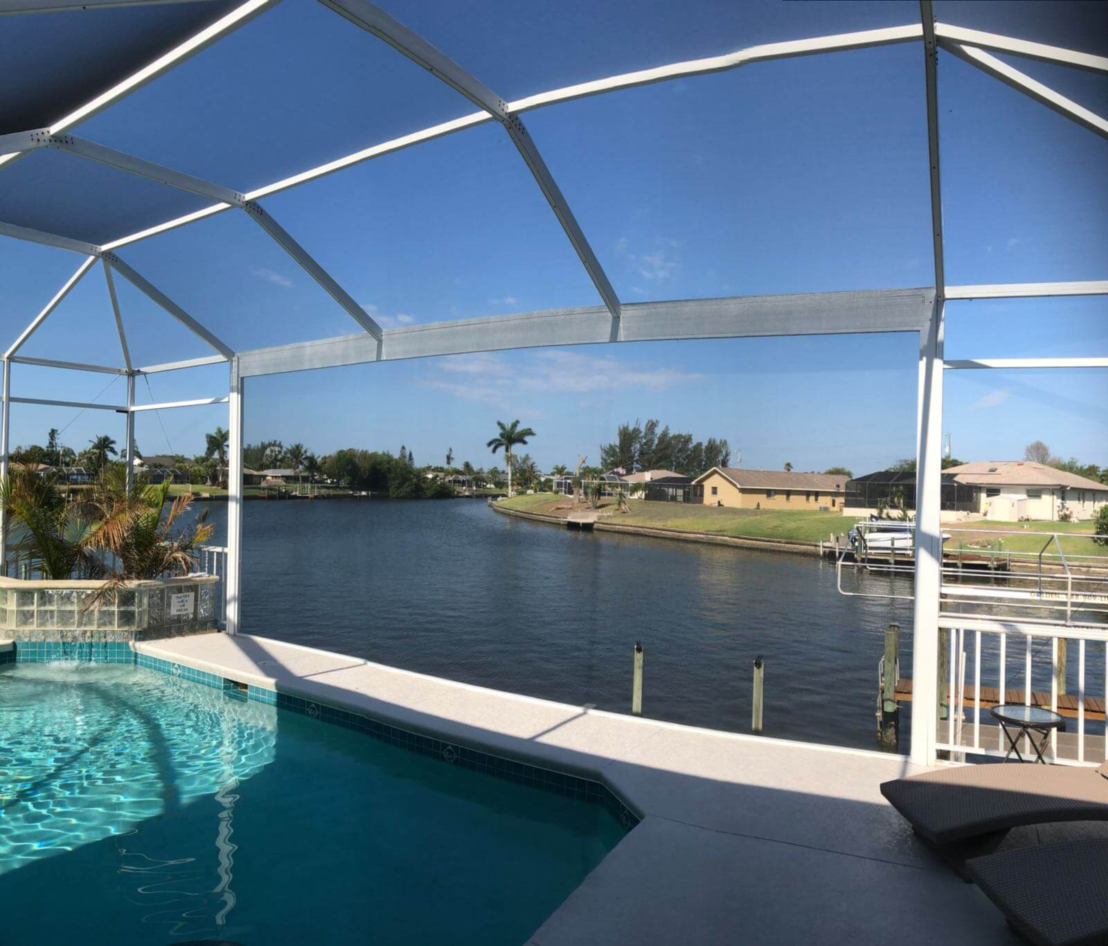 Neues Screenfenster im Ferienhaus Coral Belle in Cape Coral